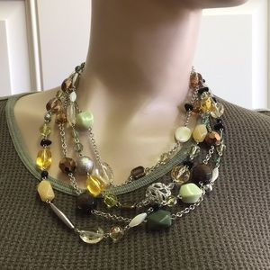 Lia Sophia Statement Necklace Adjustable